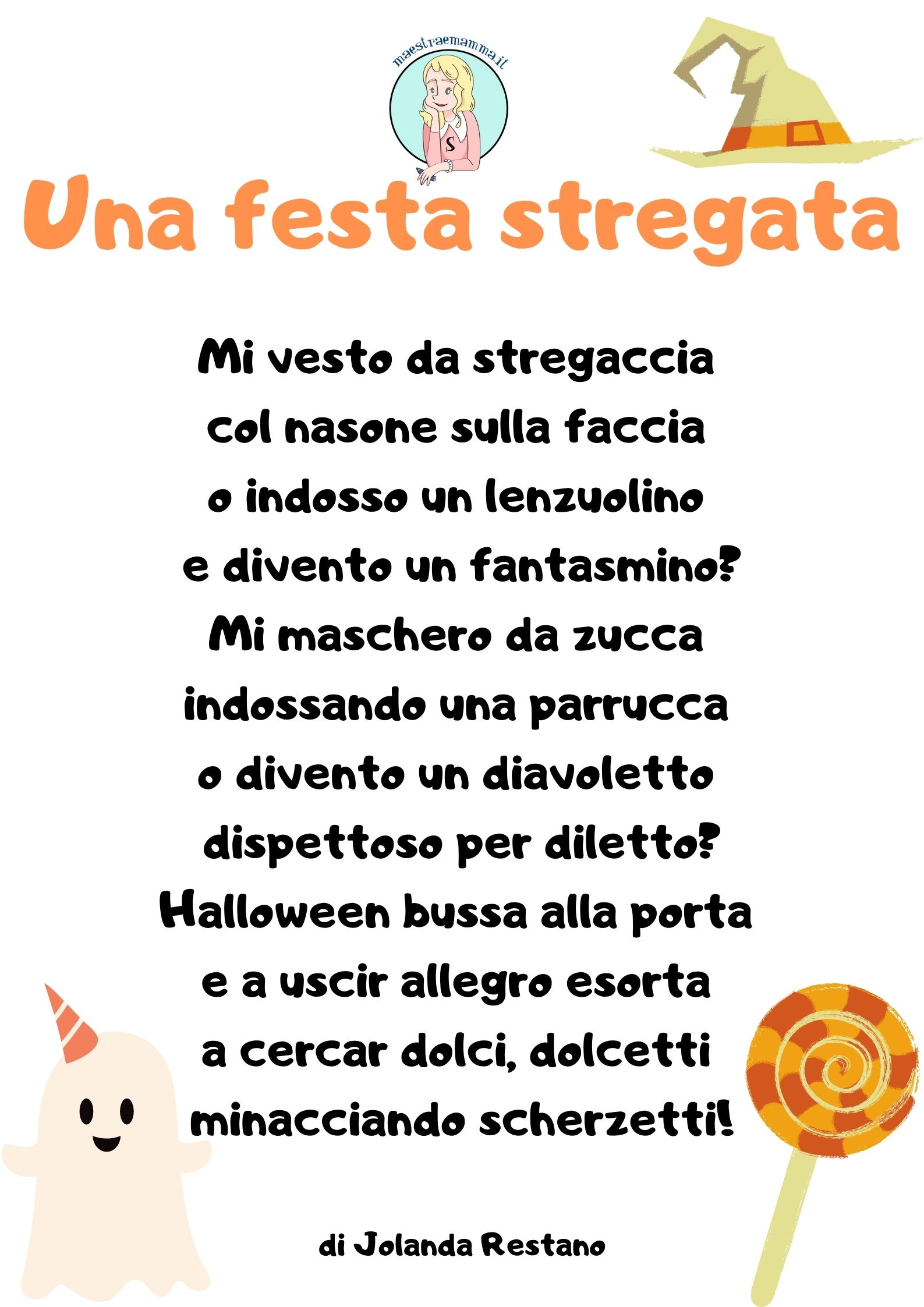 Una festa stregata-scheda didattica-Dettato Halloween - classe seconda e terza scuola primaria