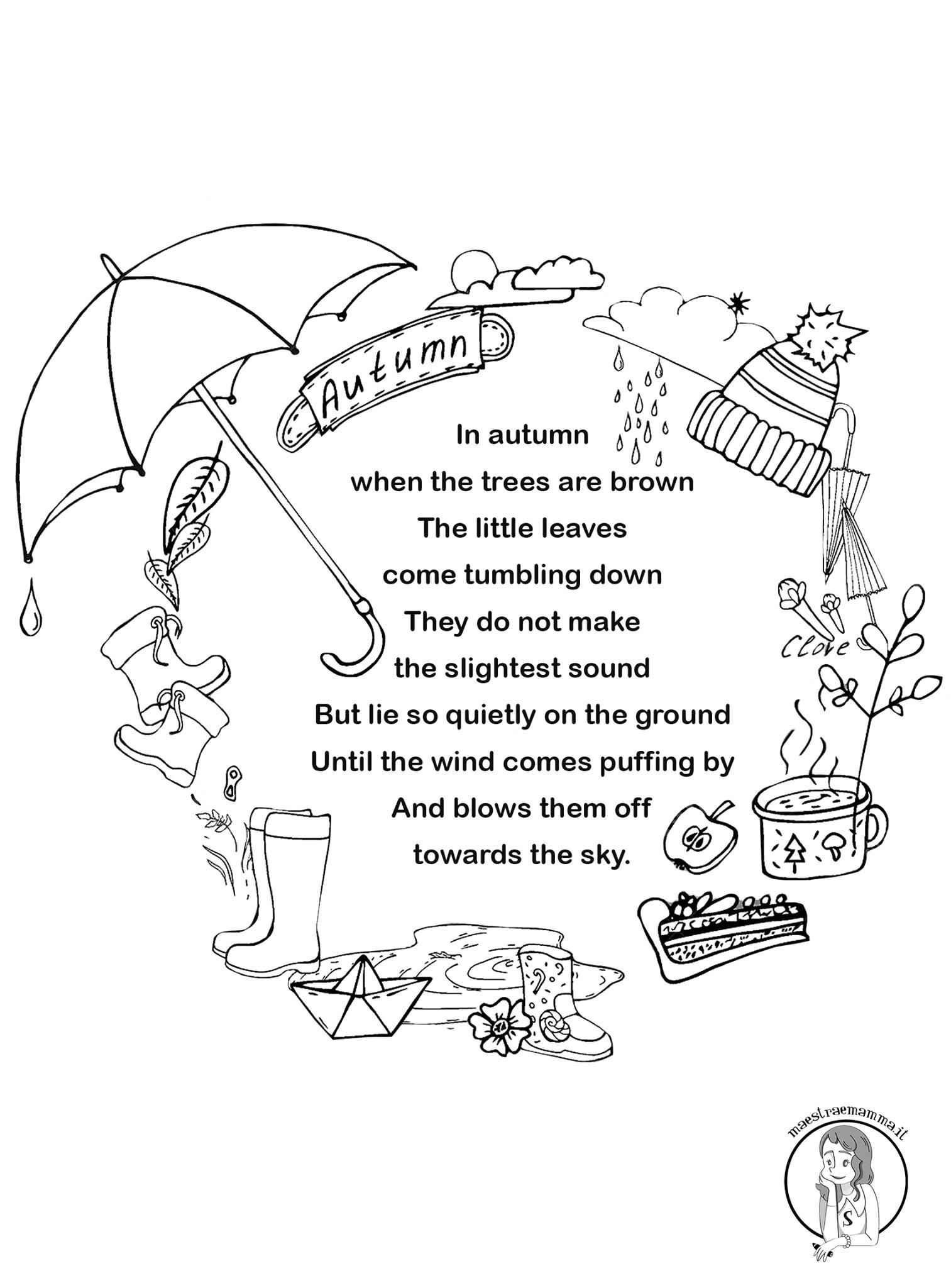 autumn autunno poesia in inglese per bambini