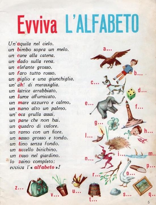 Filastrocca dell'alfabeto