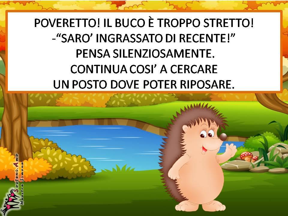 """comprensione del testo: il bosco in autunno-""""Ciccio il riccio"""" scritta da Simona Chianura - storia autunnale con domande di comprensione."""