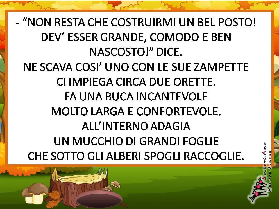 """schede didattiche brevi racconti-""""Ciccio il riccio"""" - semplice storia autunnale con domande di comprensione"""