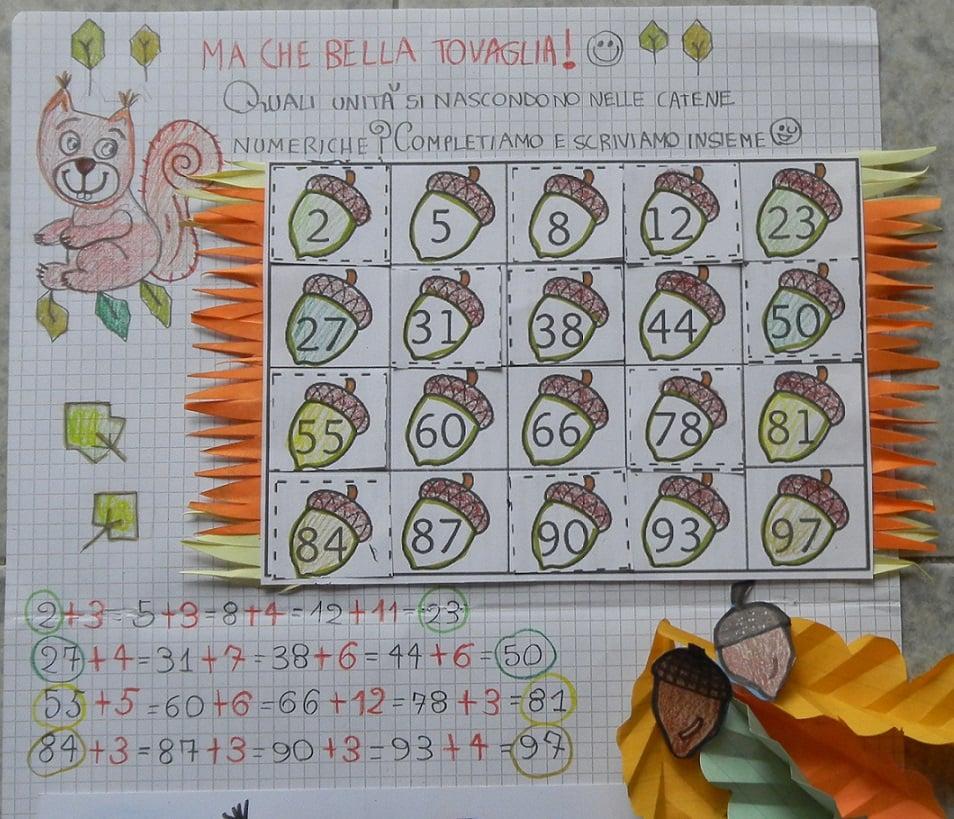 schede di matematica da stampare - Matematica creativa con ghiande e scoiattoli (schede matematica classe seconda)