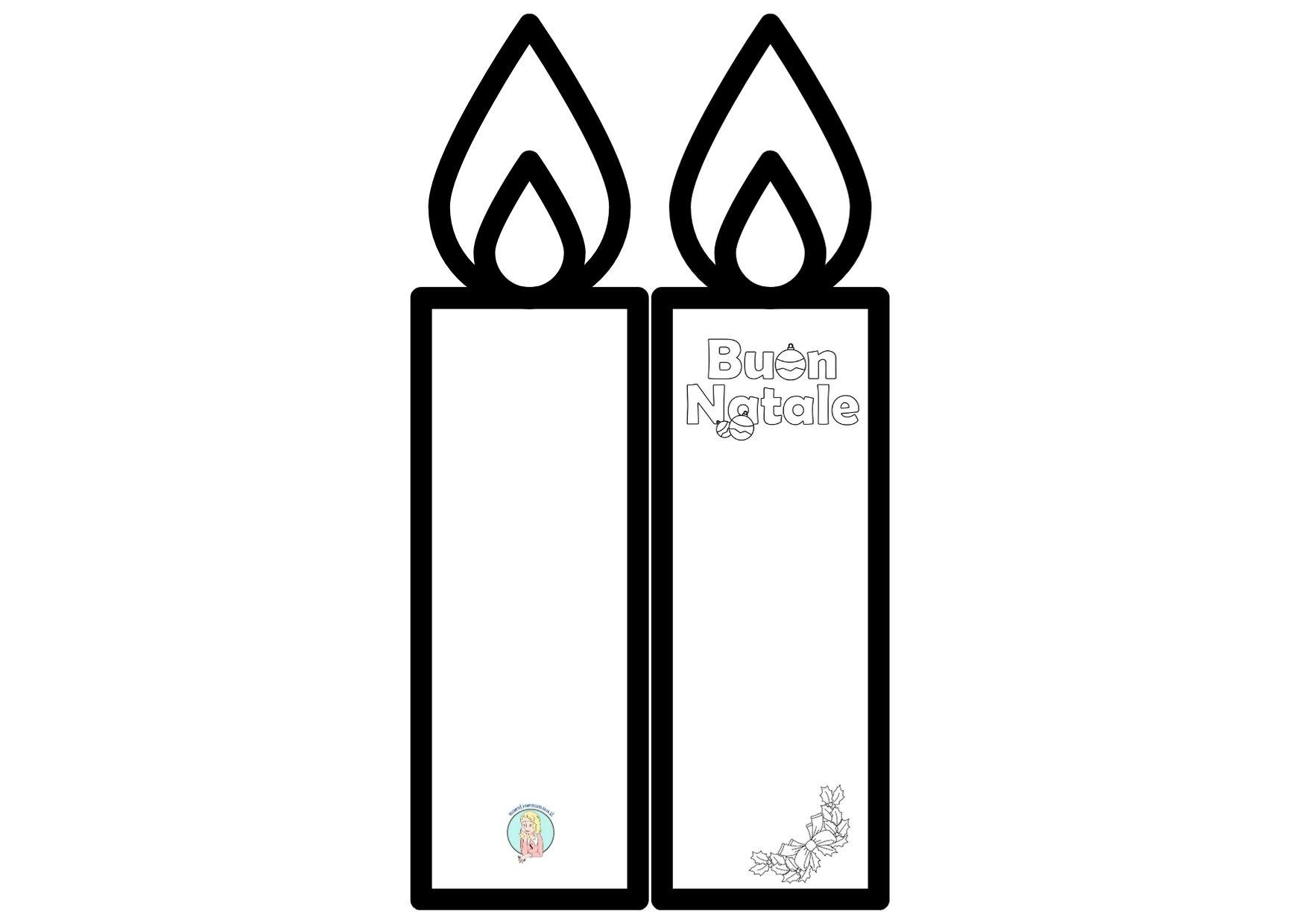 Biglietto di Natale facile con candela di carta