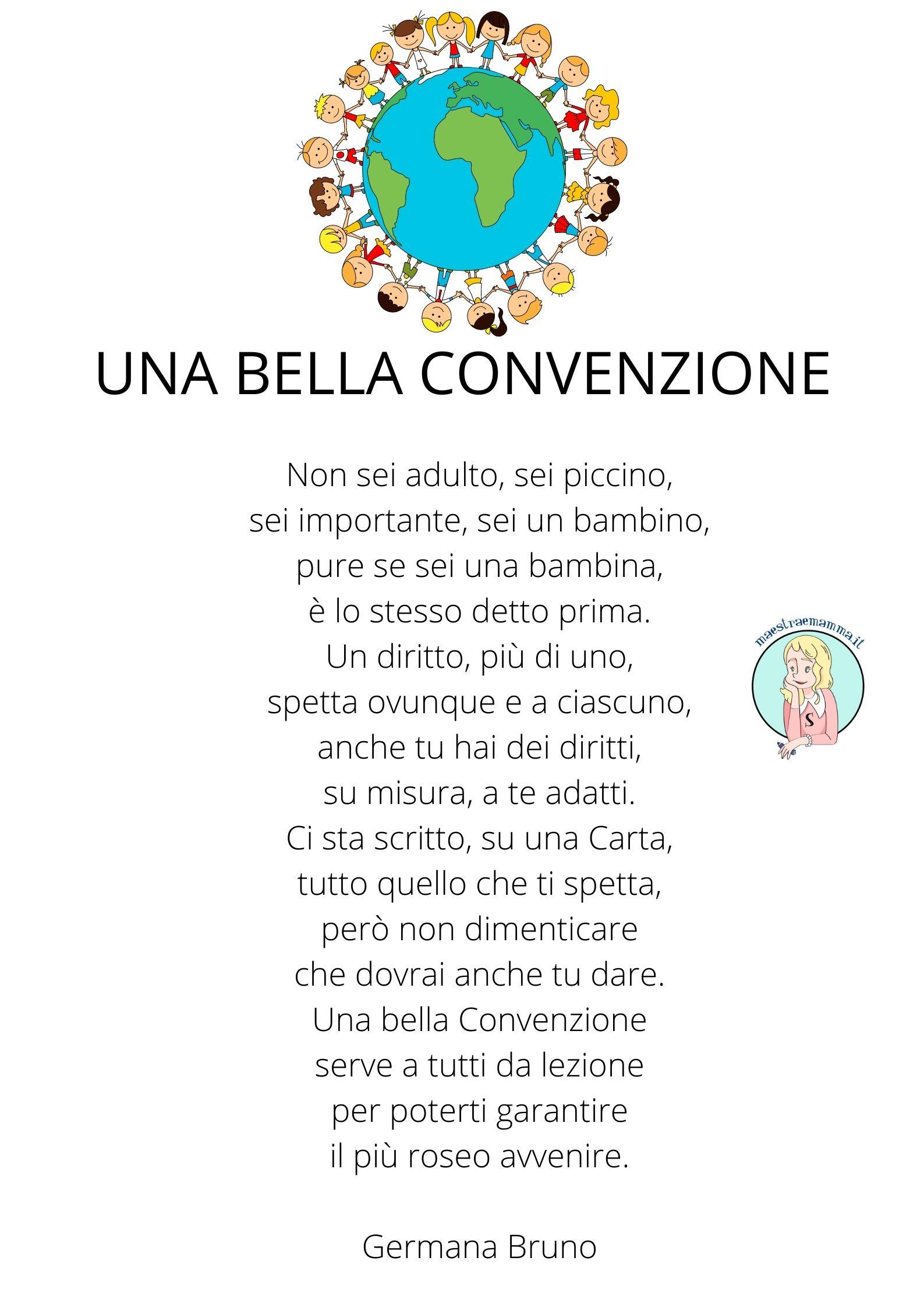 poesia germana bruno una bella convenzione unicef-20 novembre Giornata dei Diritti dei bambini