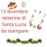 Lettera per Santa Lucia da stampare
