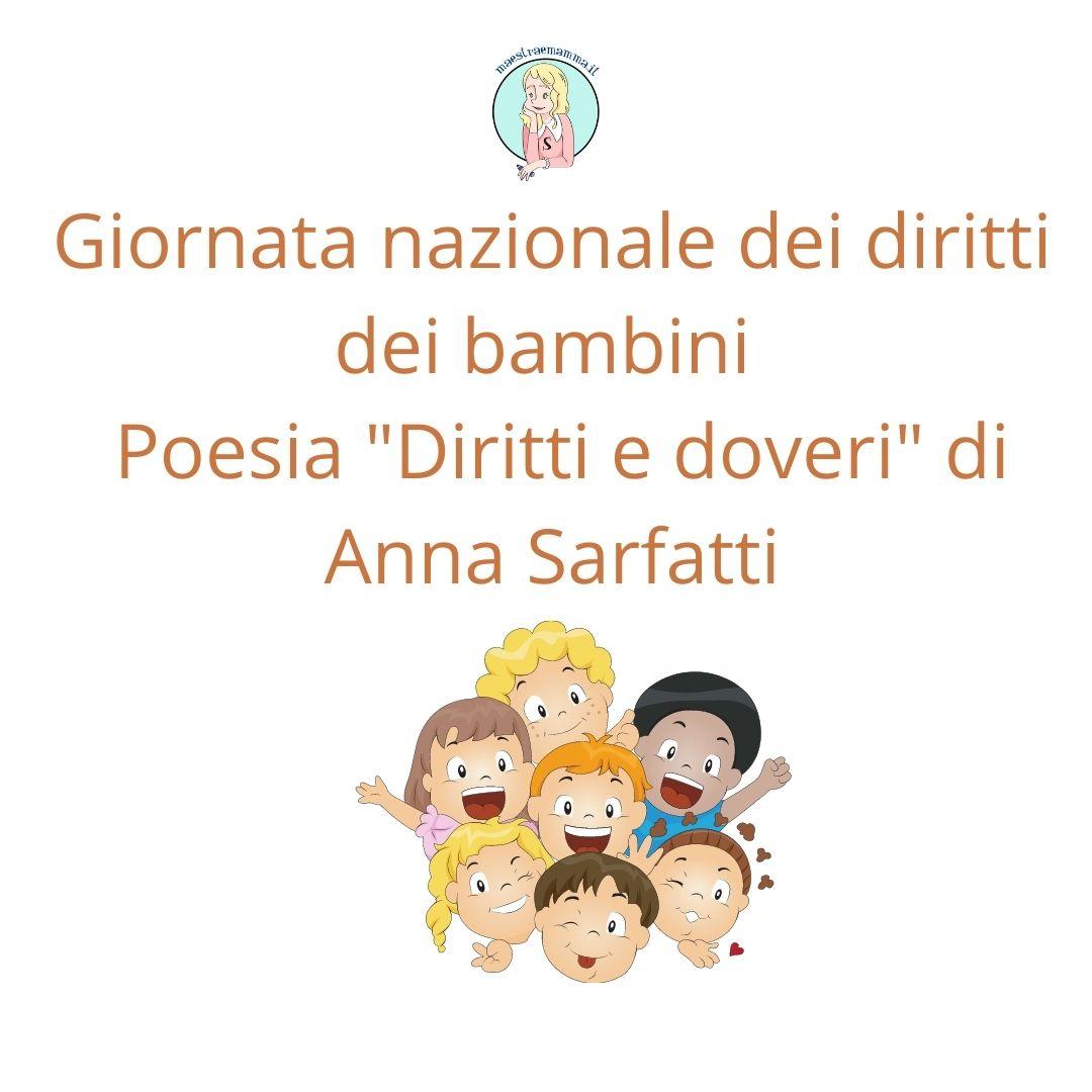 """Poesia sui diritti dei bambini – """"Diritti e doveri"""" di A. Sarfatti"""