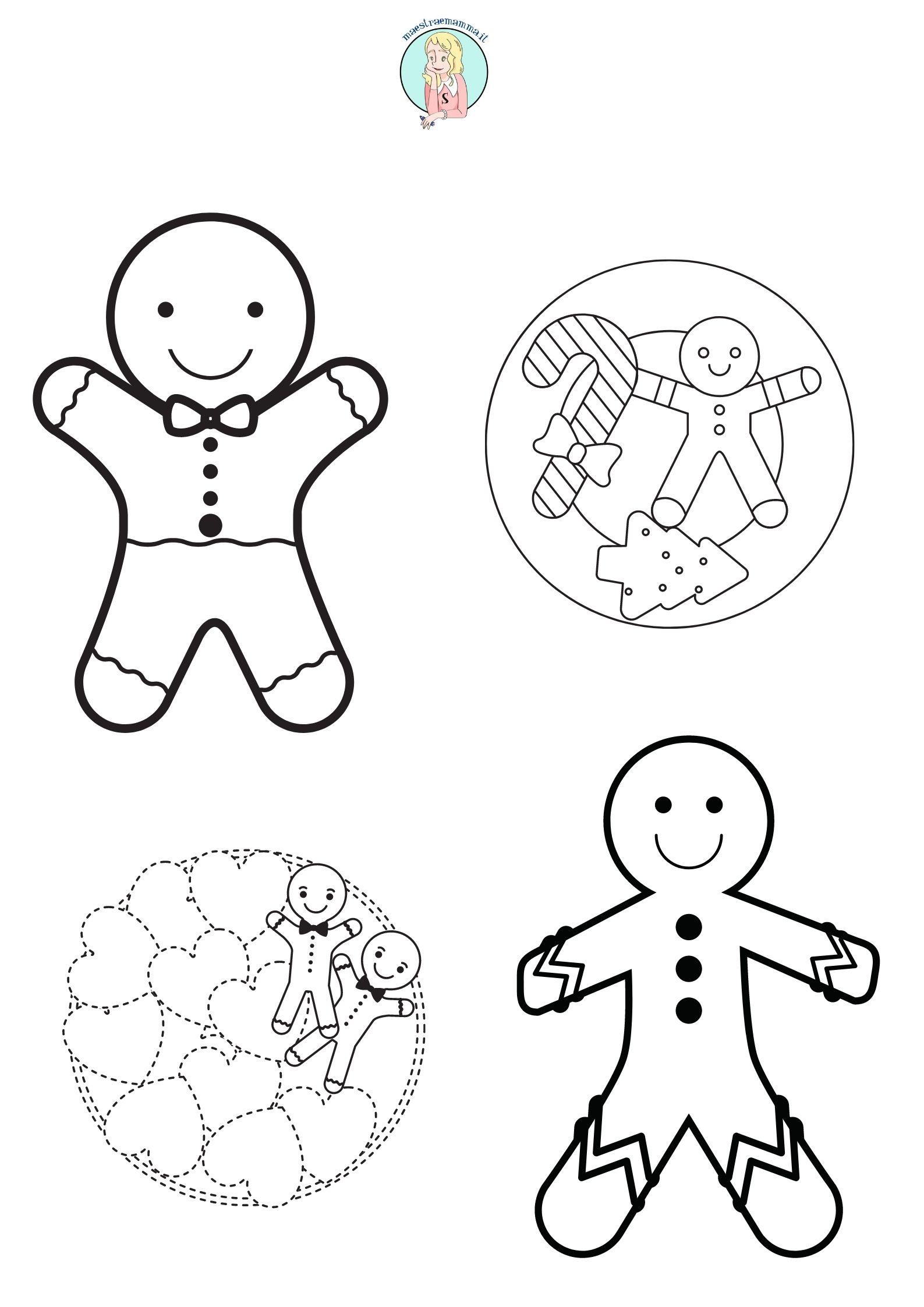 biscotti di natale Disegni di Natale da colorare, ritagliare e appendere per la classe o per la sezione