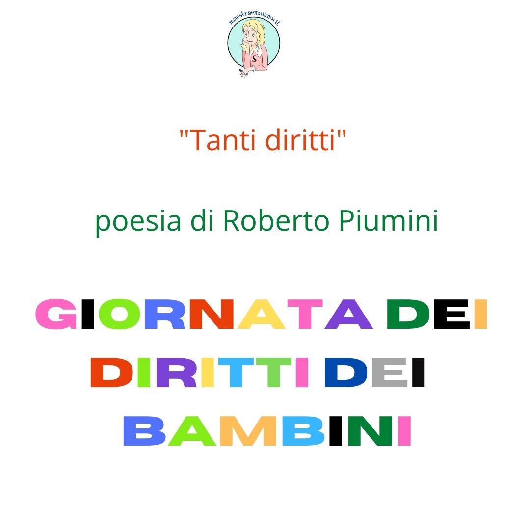 Poesia di R. Piumini – Giornata dei diritti dei bambini