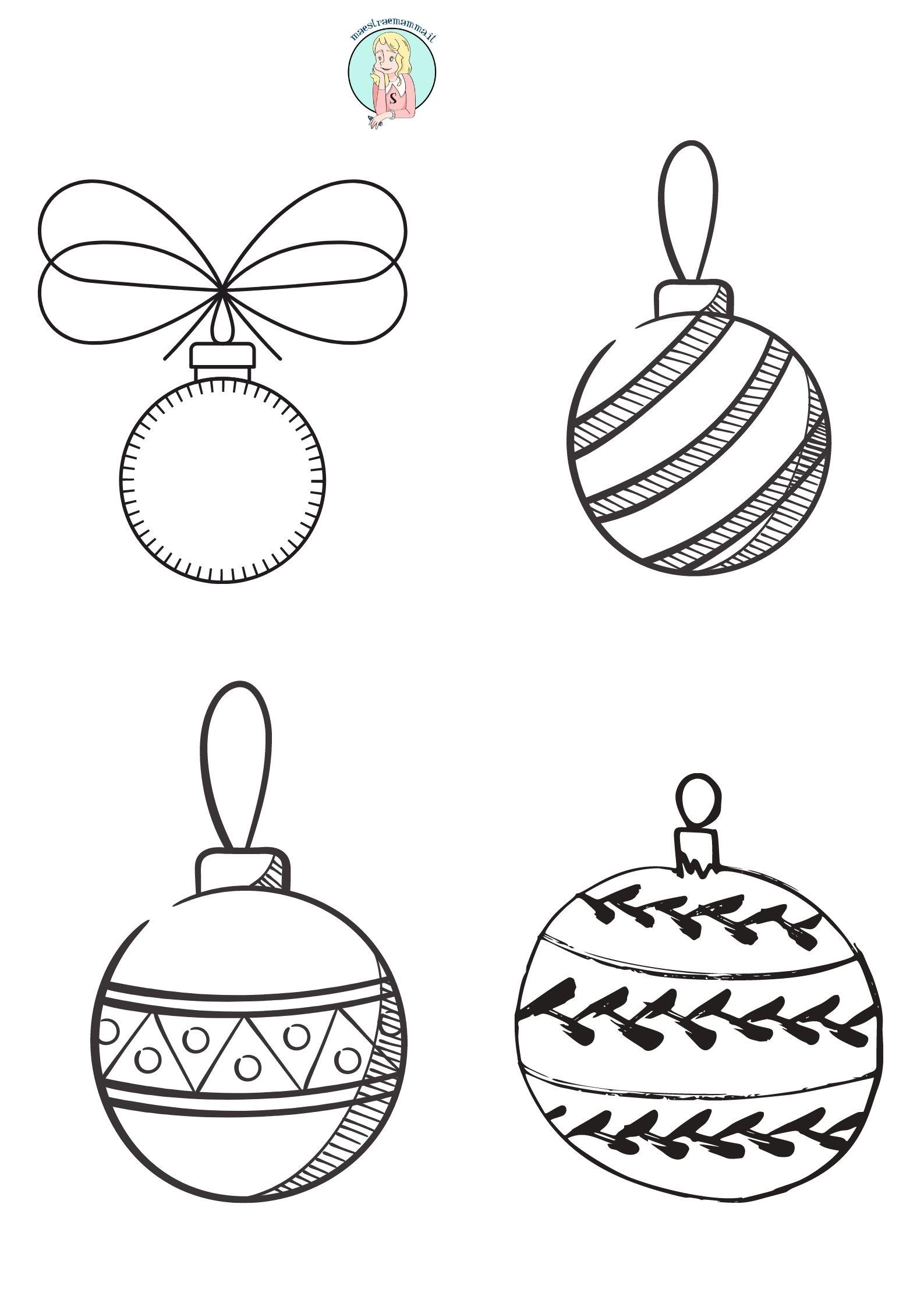palline di natale Disegni di Natale per bambini da colorare
