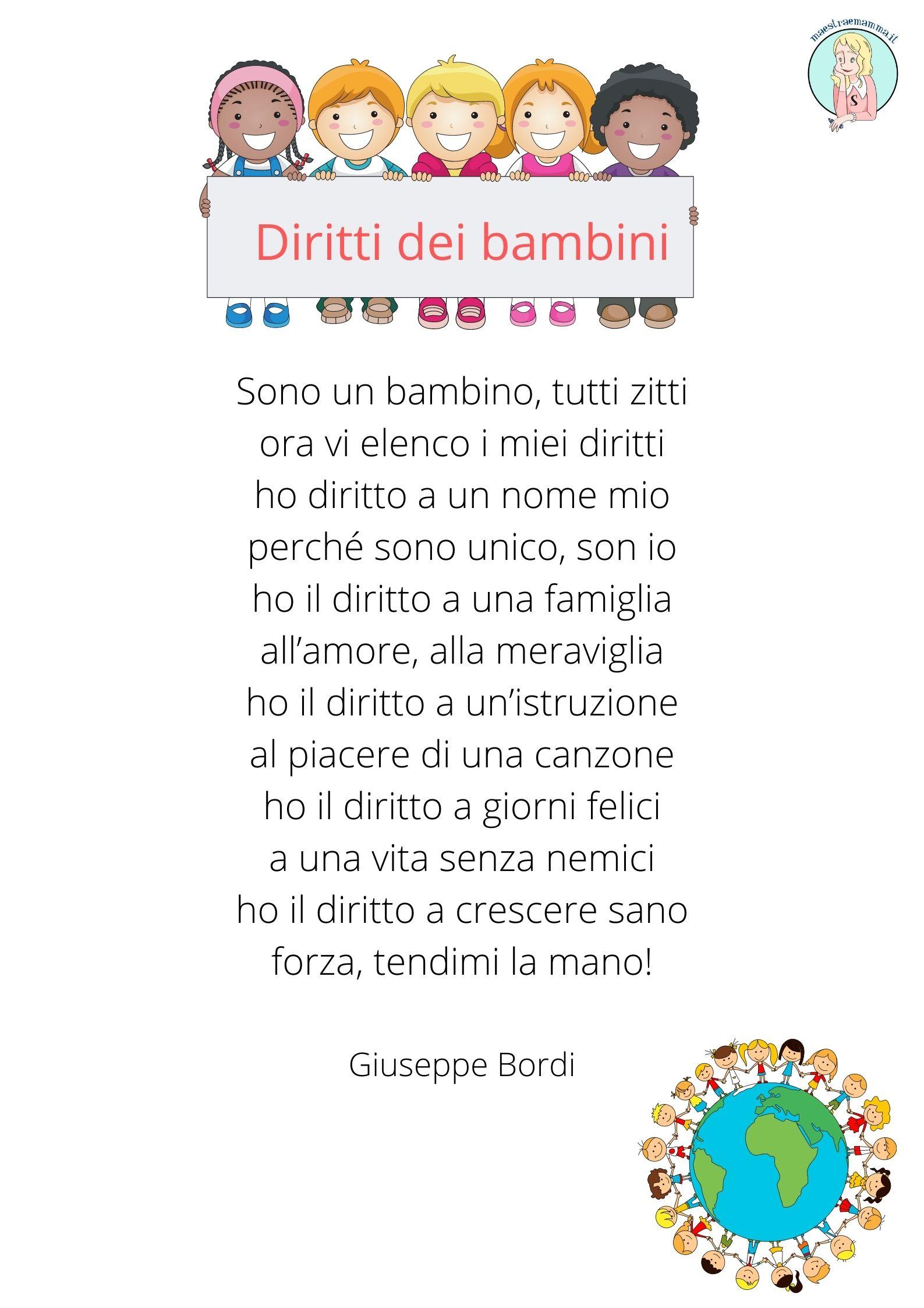 Filastrocca per la giornata de diritti dei bambini di Giuseppe Bordi