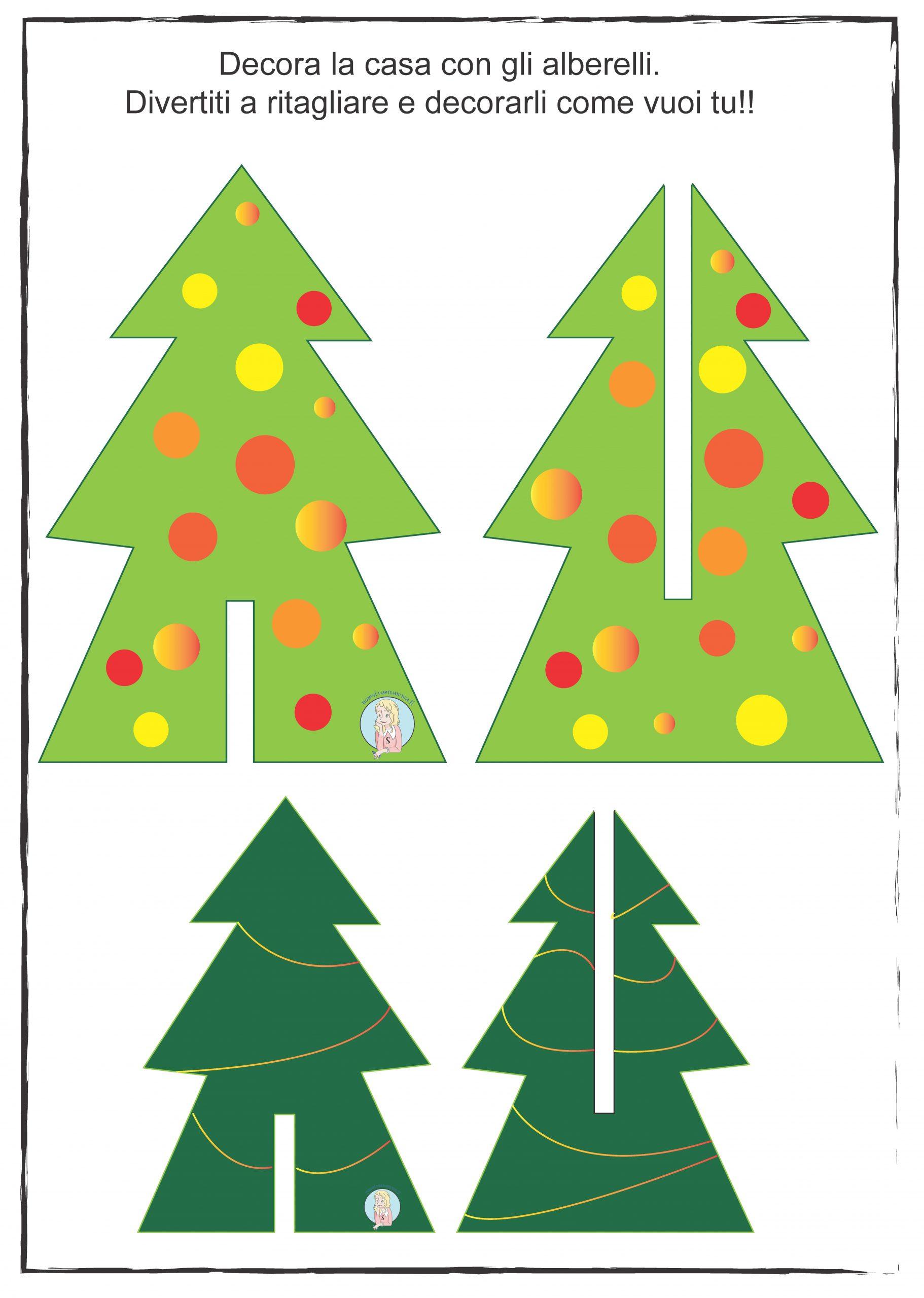 Lavoretti Di Natale Classe Seconda.Decorazione Di Natale Semplice Albero Di Natale Di Carta