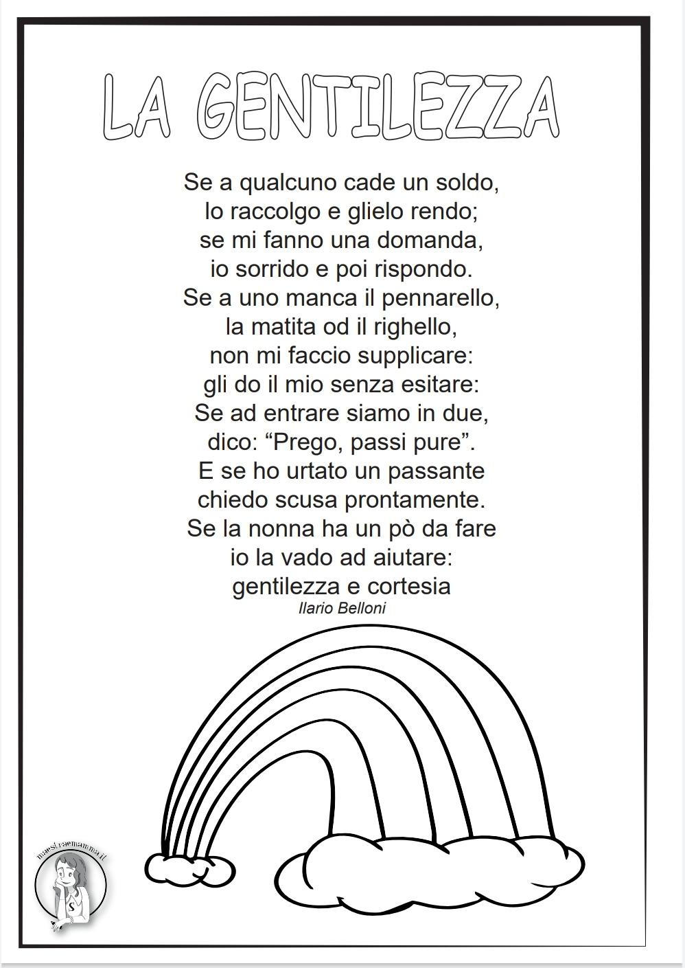 """""""La gentilezza"""" - poesia di Ilario Belloni 13 novembre settimana della gentilezza"""