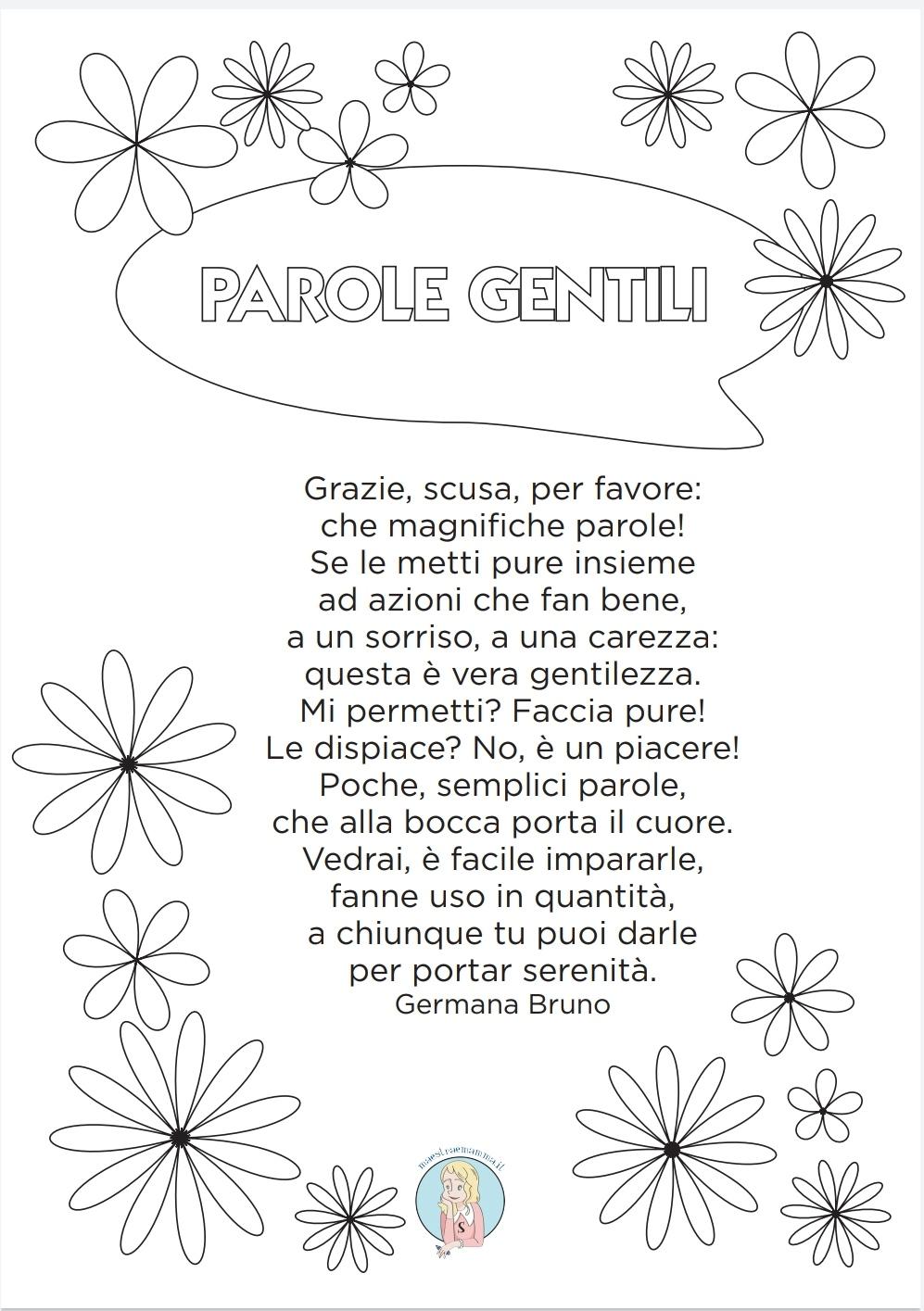 Le parole gentili - poesia gentilezza di Elio Gentile - per la giornata della gentilezza ma utile da proporre anche durante le lezioni di educazione civica