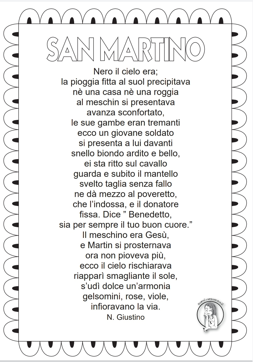 poesia di san martino per bambini scuola