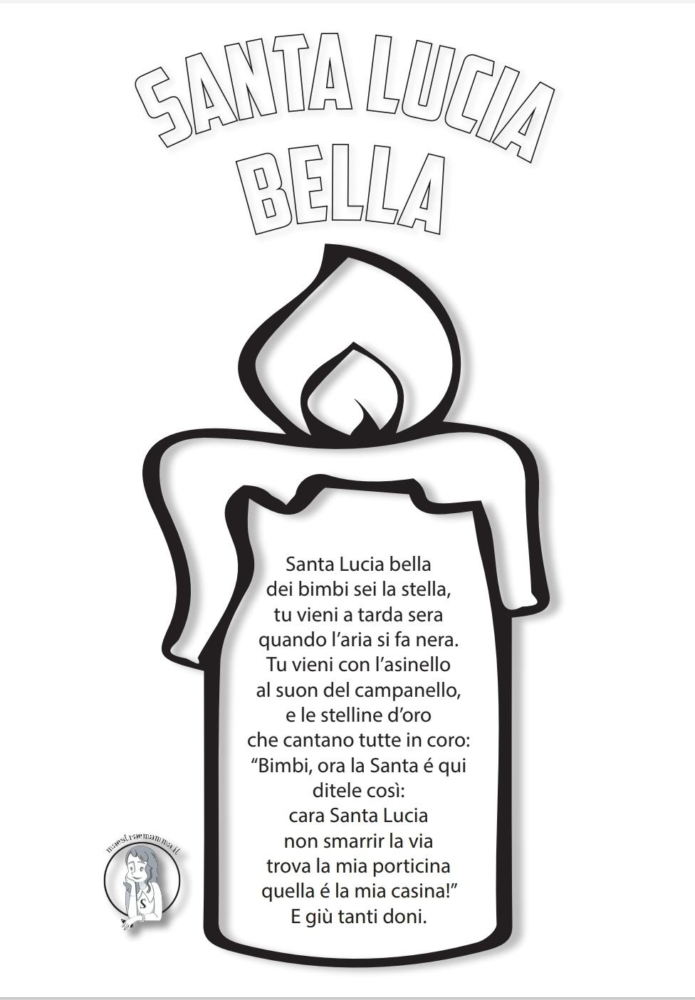 poesia Santa Lucia bella per bambini