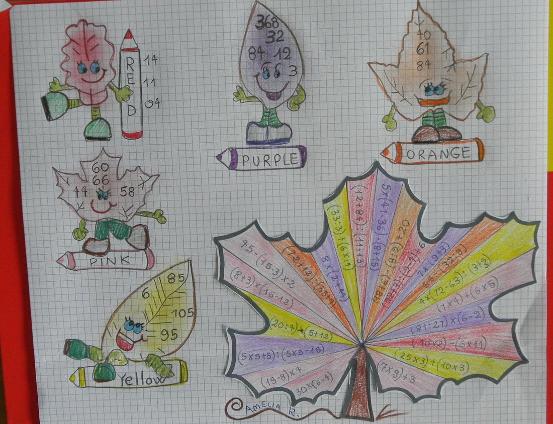 matefoglie schede attività matematica classe quarta