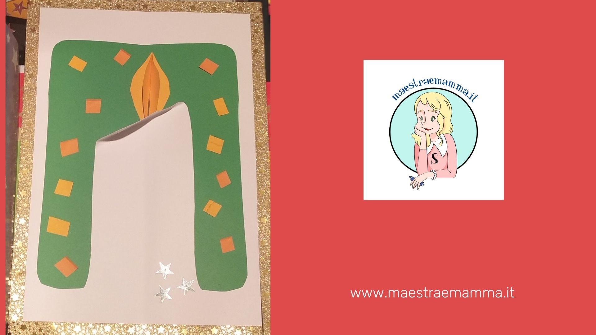 candele di carta fai da te per bambini per natale