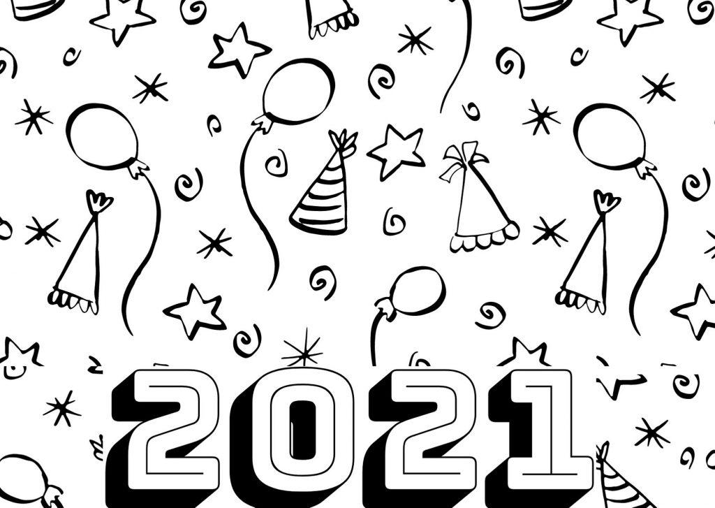 2021 CAPODANNO ULTIMO ANNO DISEGNI DA COLORARE