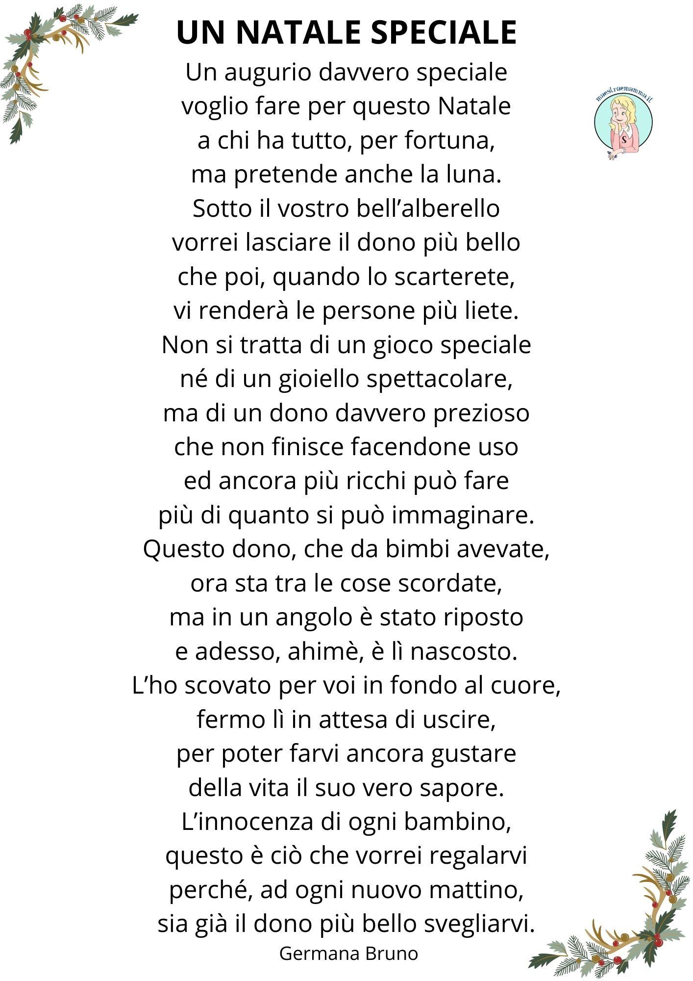 Poesia sul Natale di Germana Bruno – Un Natale speciale