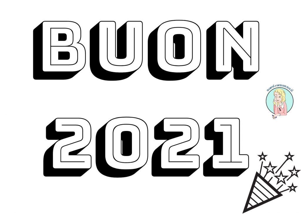 BUON 2021 DA COLORARE PER BAMBINI