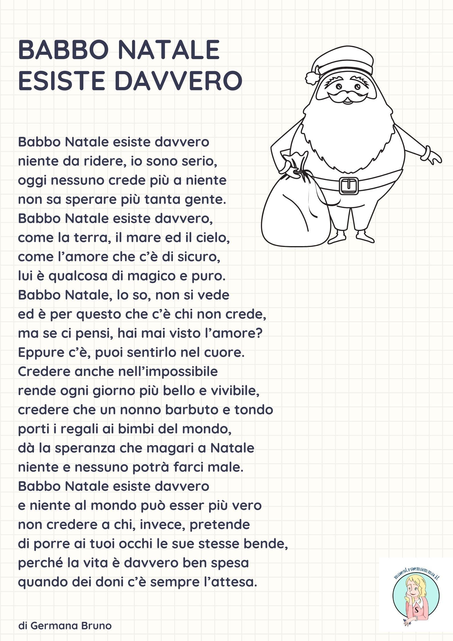 Poesie Di Natale In Rima.Poesia Di Natale Per Bambini Babbo Natale Esiste Davvero
