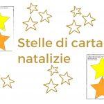 stelle di carta natalizie natale