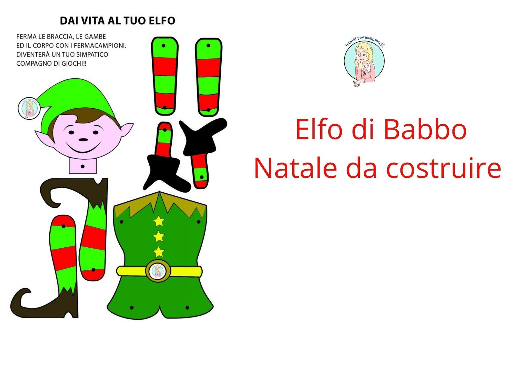 Sagome Natalizie Da Ritagliare – Elfo di Babbo Natale