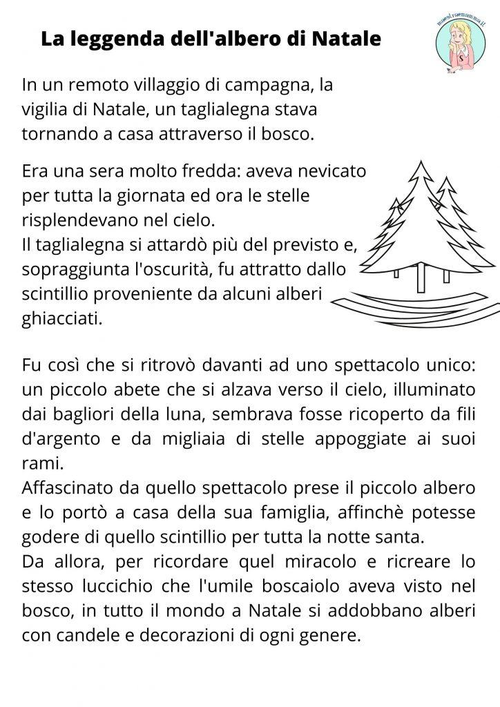 LA LEGGENDA DELL'ALBERO DI NATALE SCHEDA A COLORI