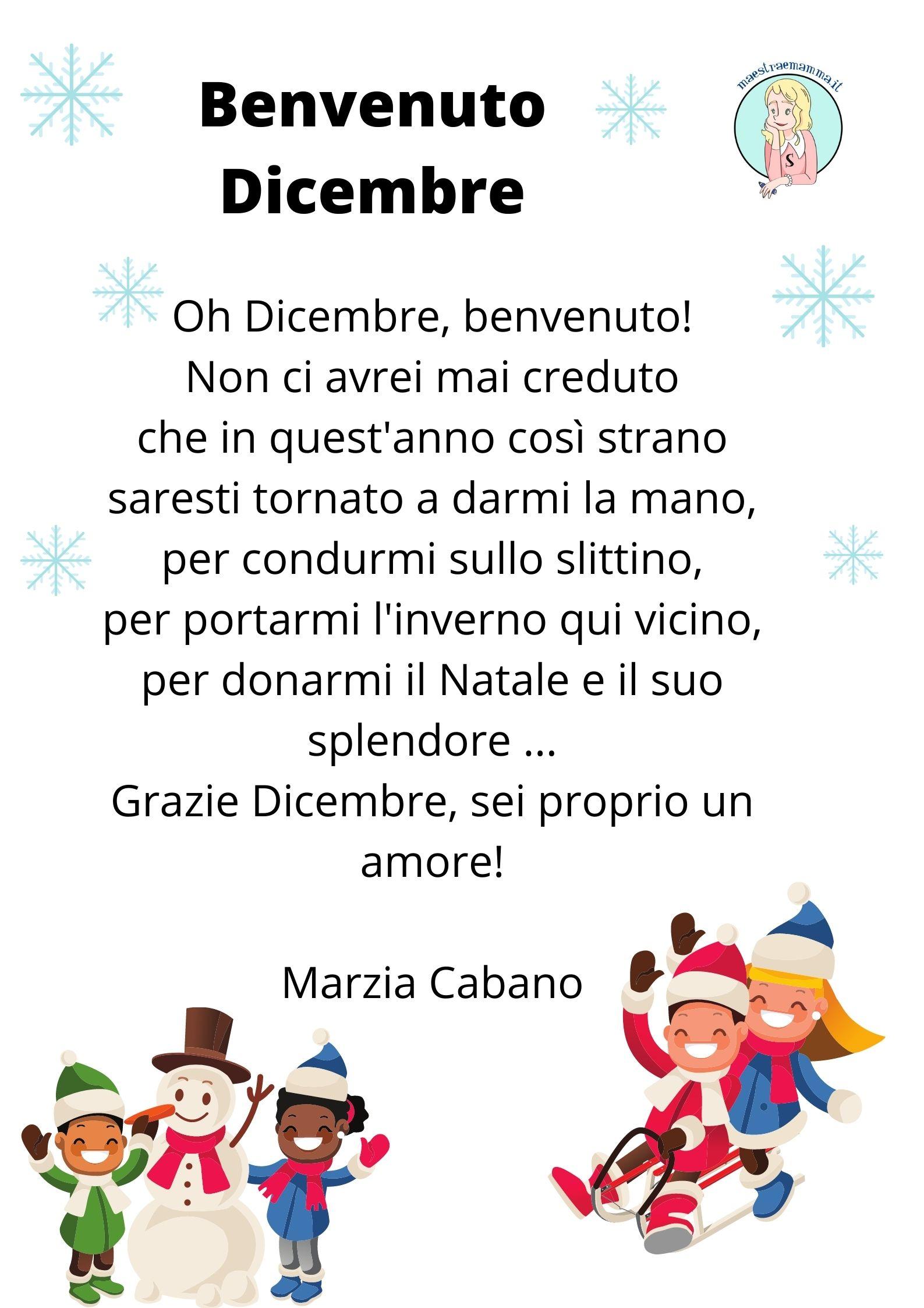 Benvenuto Dicembre! Poesia su Dicembre di Marzia Cabano