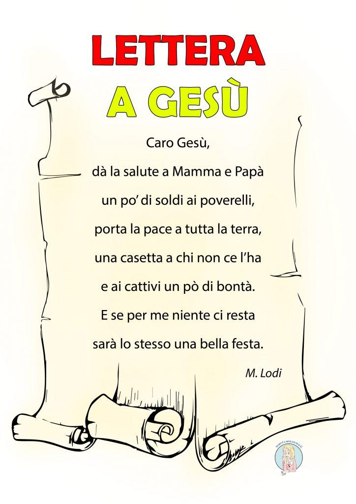 Lettera a Gesù - poesia di Mario Lodi