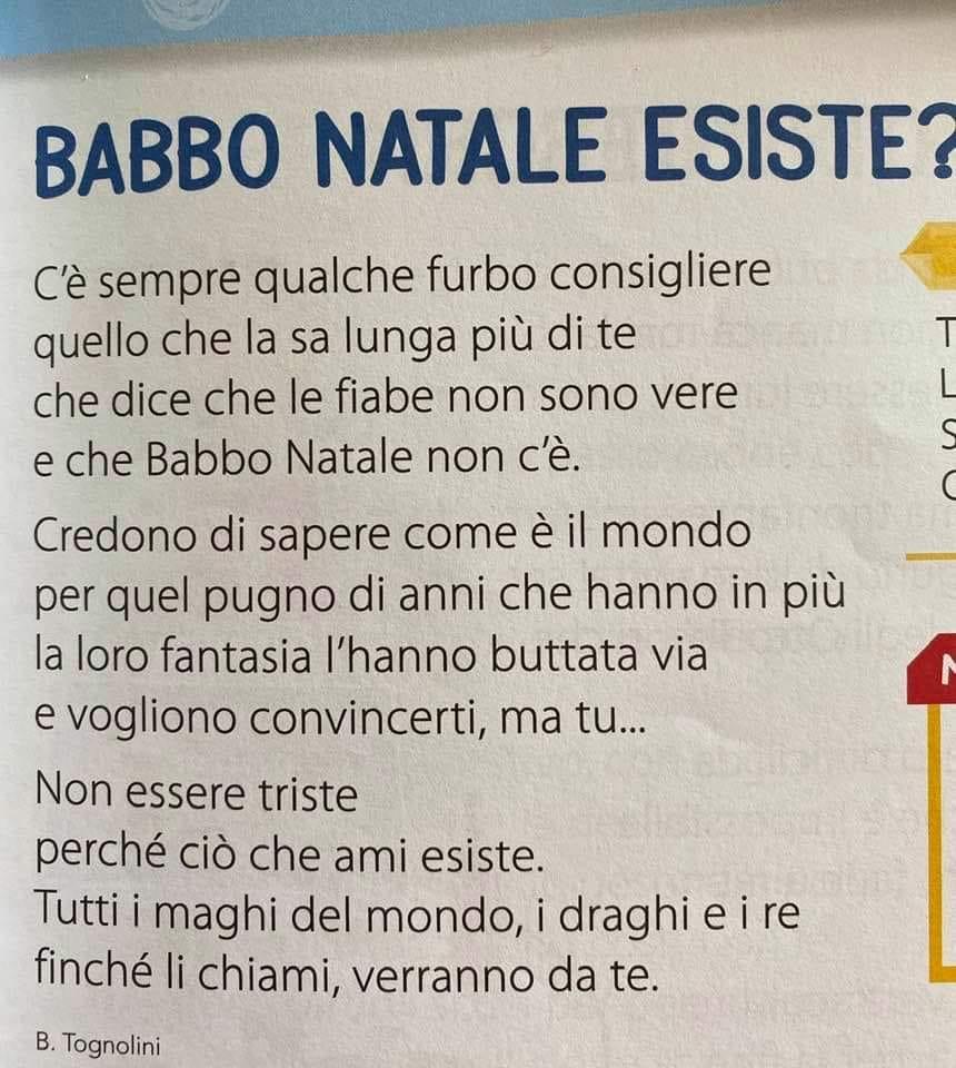 """Filastrocca su Babbo Natale  di Bruno Tognolini – """"Ma Babbo Natale esiste?"""""""