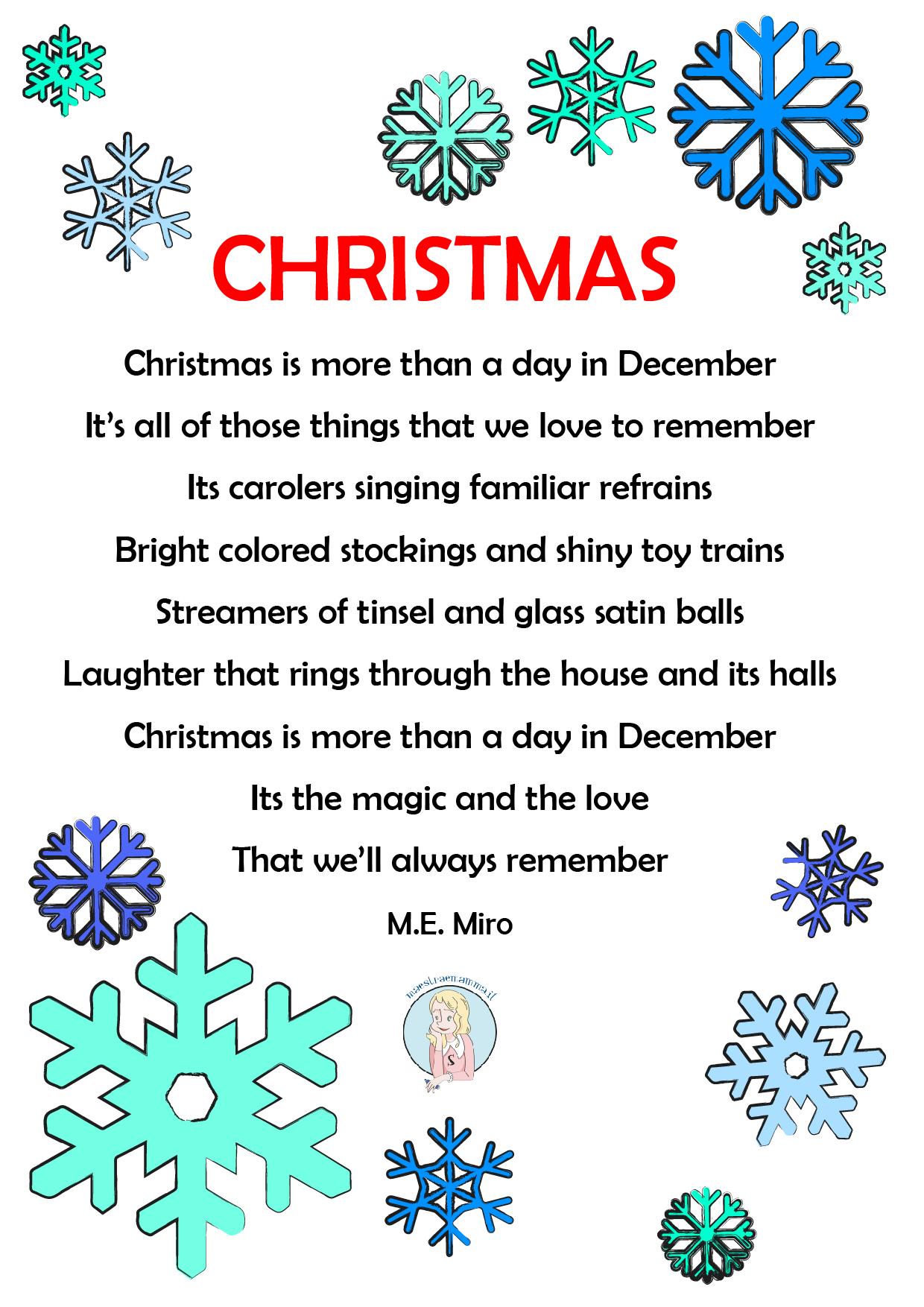 Poesie Di Natale In Inglese Per Bambini.Best Christmas Poems For Kids Poesie Di Natale In Inglese