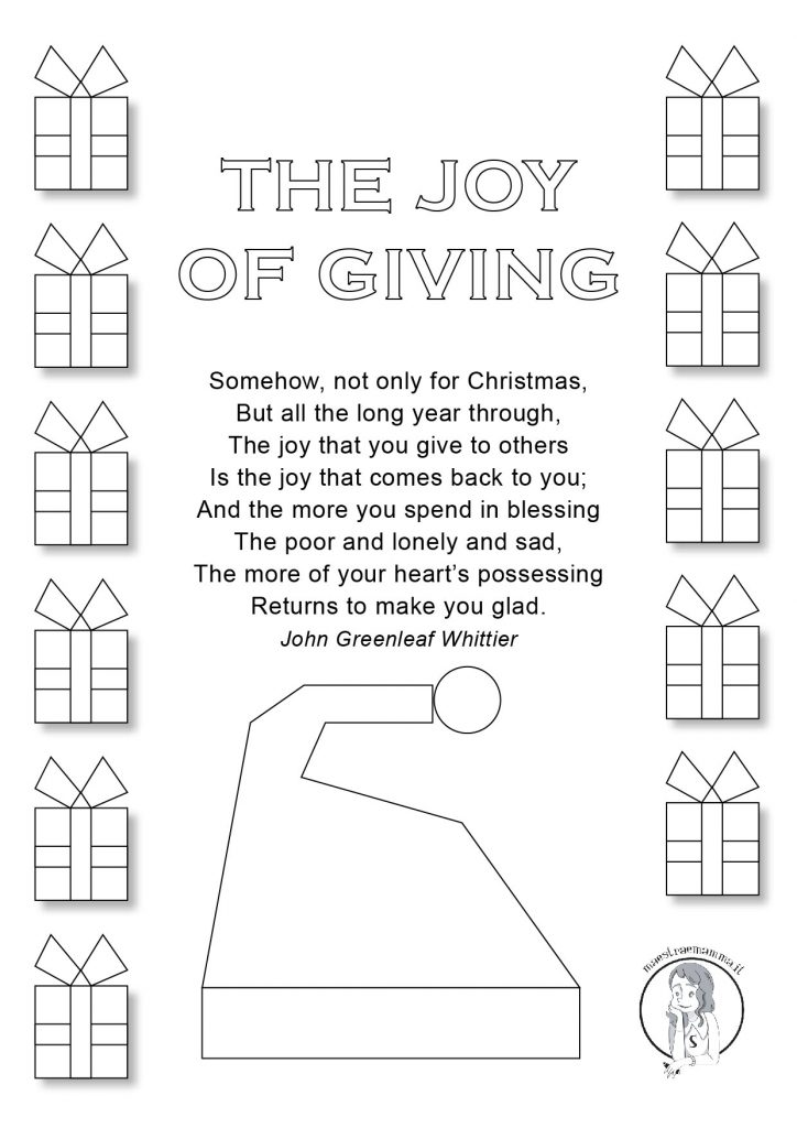 the joy of giving Christmas Poems for Kids