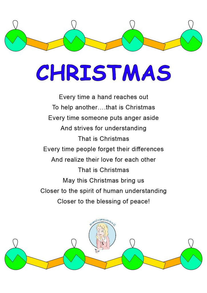 Poesia Natale inglese christmas Poesia Natale inglese the joy of giving -Christmas Poems for Kid