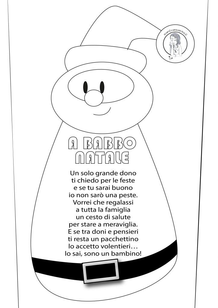 A Babbo Natale - semplice poesia per bambini