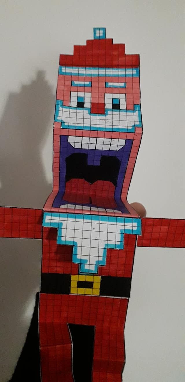 Babbo Natale pixel art