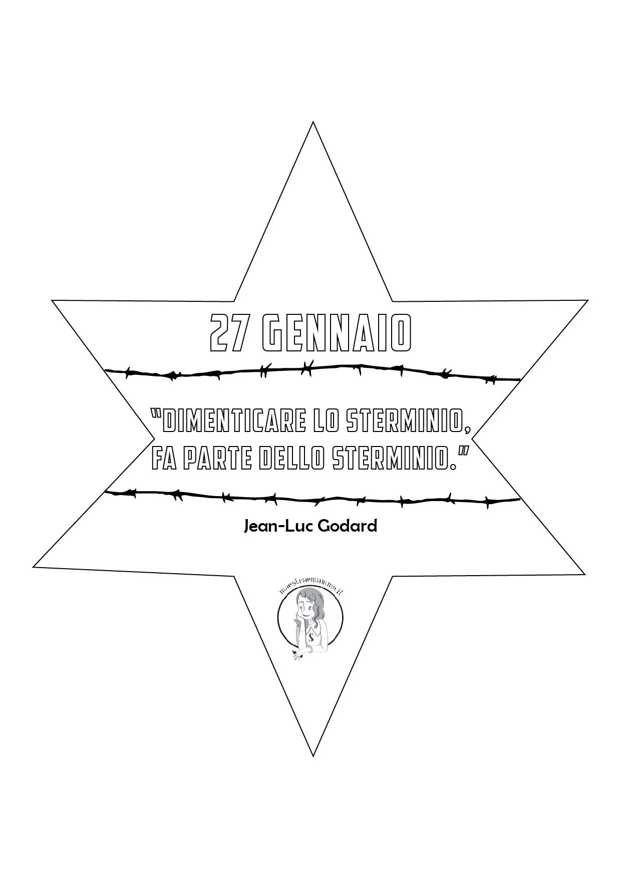 shoah Olocausto: disegno per non dimenticare per bambini scheda didattica scuola primaria
