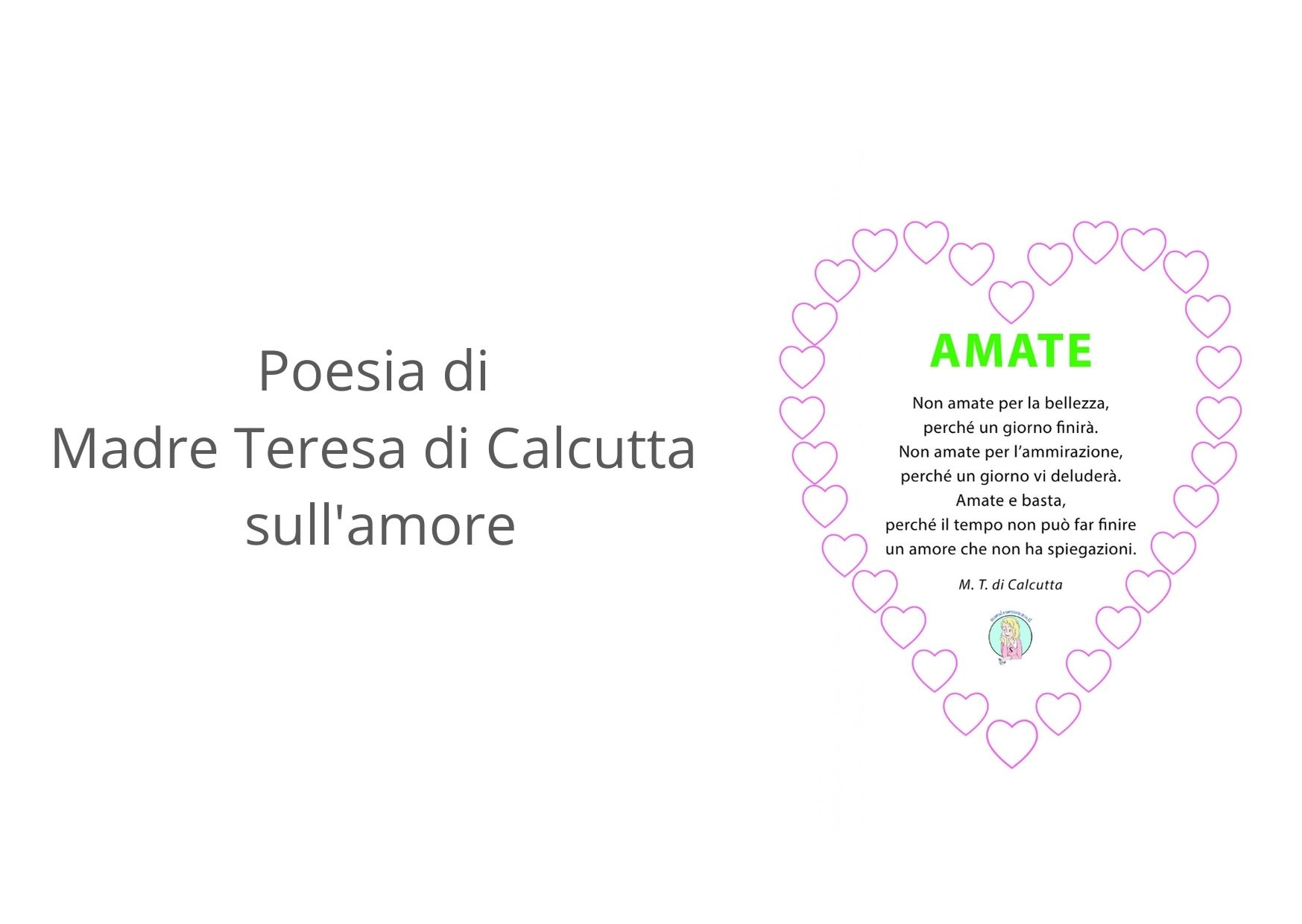 Poesia Madre Teresa di Calcutta sull'amore