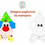 Disegno di pagliaccio per Carnevale da stampare ritagliare