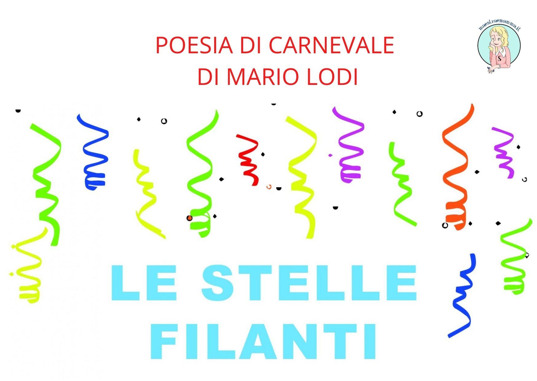 """Poesia Carnevale – """"Le stelle filanti"""" di Mario Lodi"""