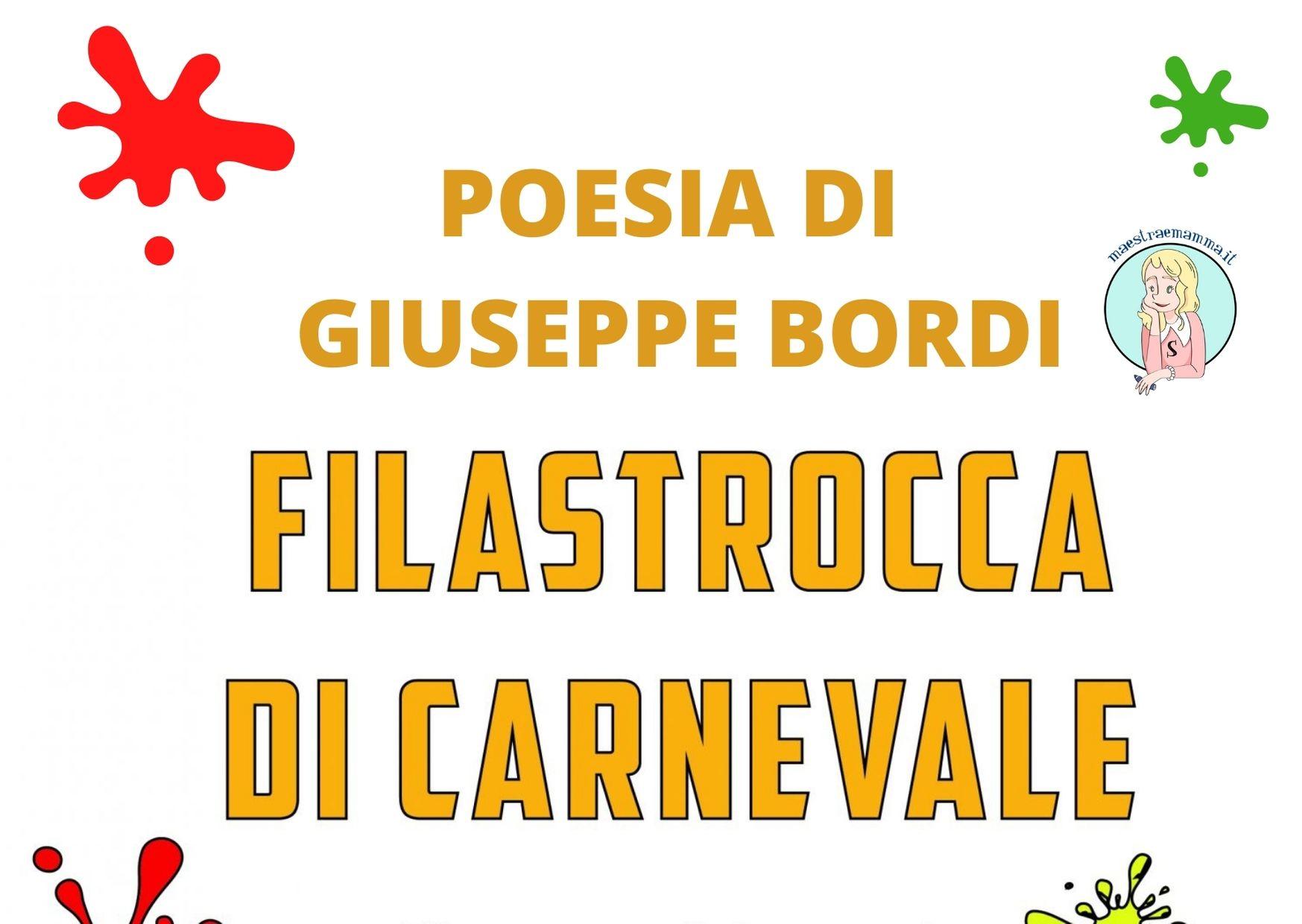 Filastrocca sul Carnevale di Giuseppe Bordi