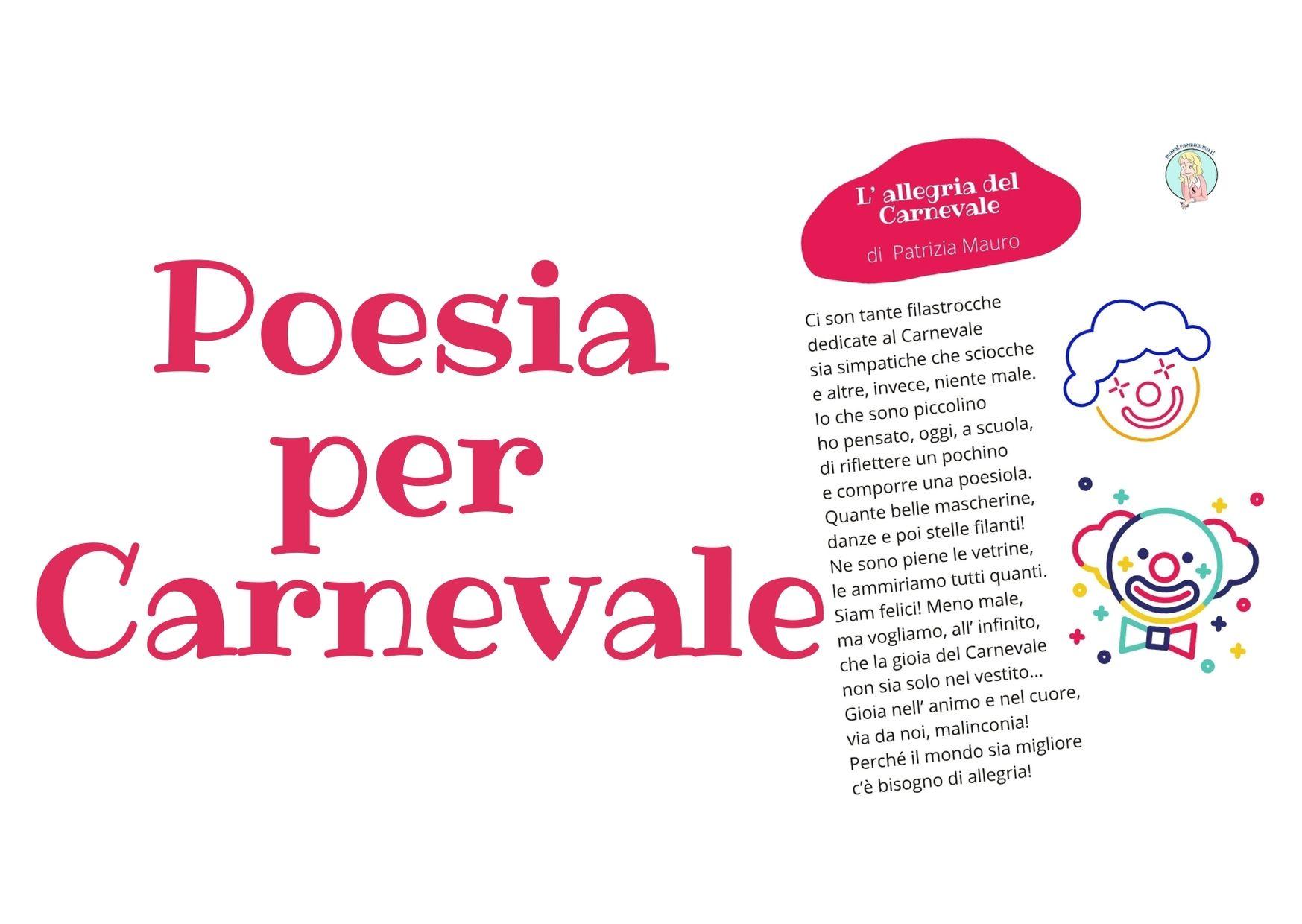 Filastrocca di Carnevale – L'allegria di Carnevale di Patrizia Mauro