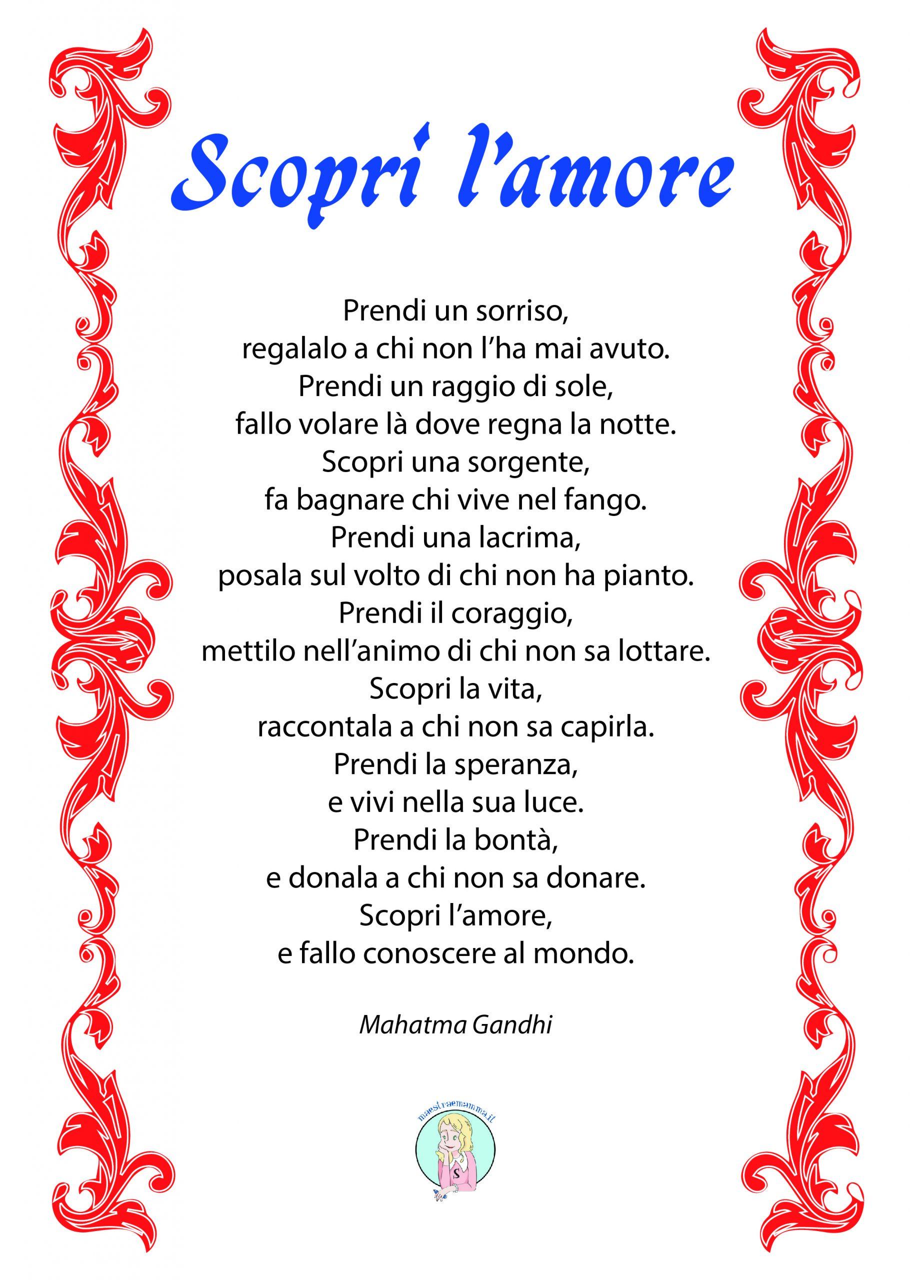 scopri l'amore poesia di san valentino di MAHATMA GANDHI