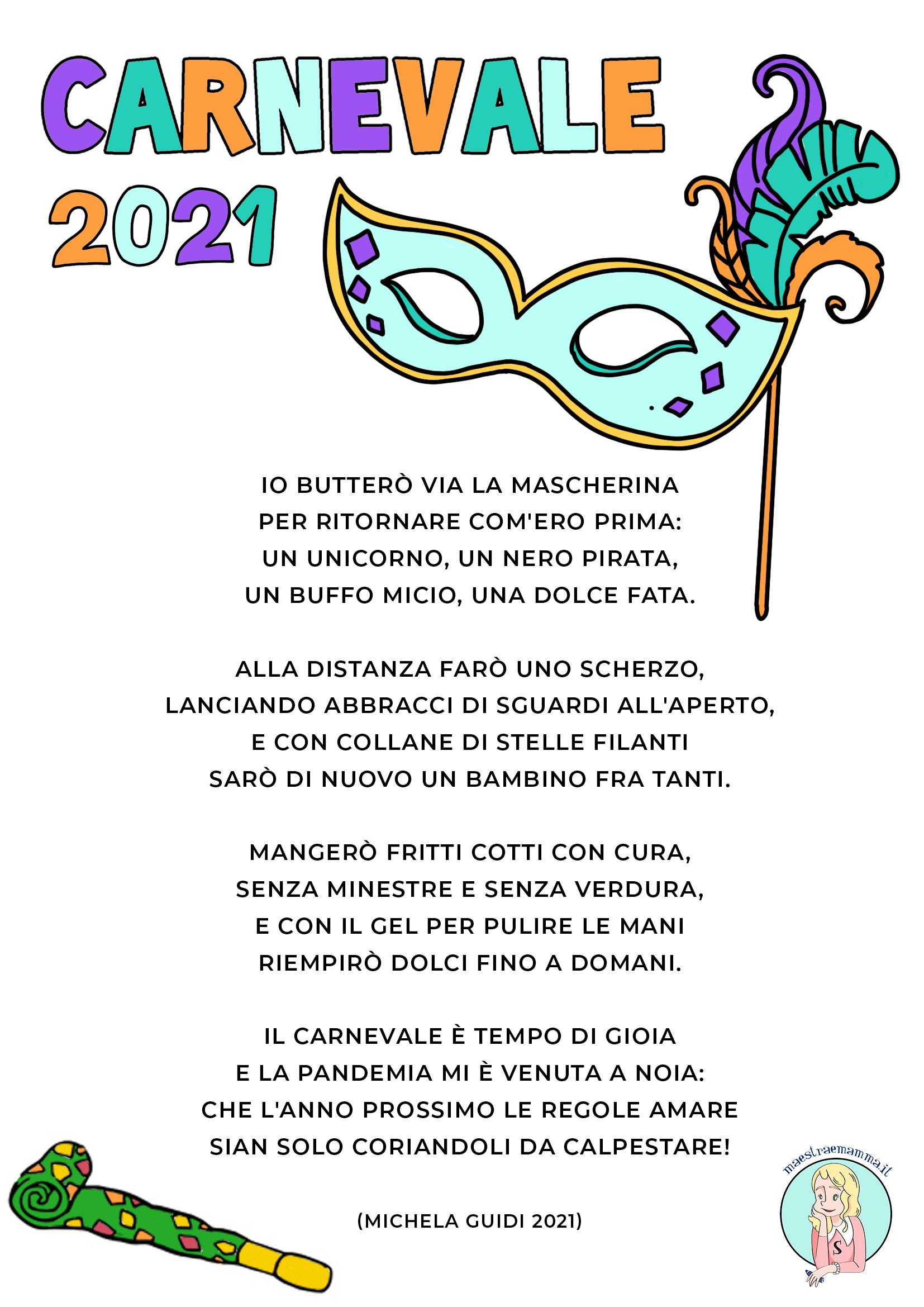 carnevale 2021 poesia di michela guidi
