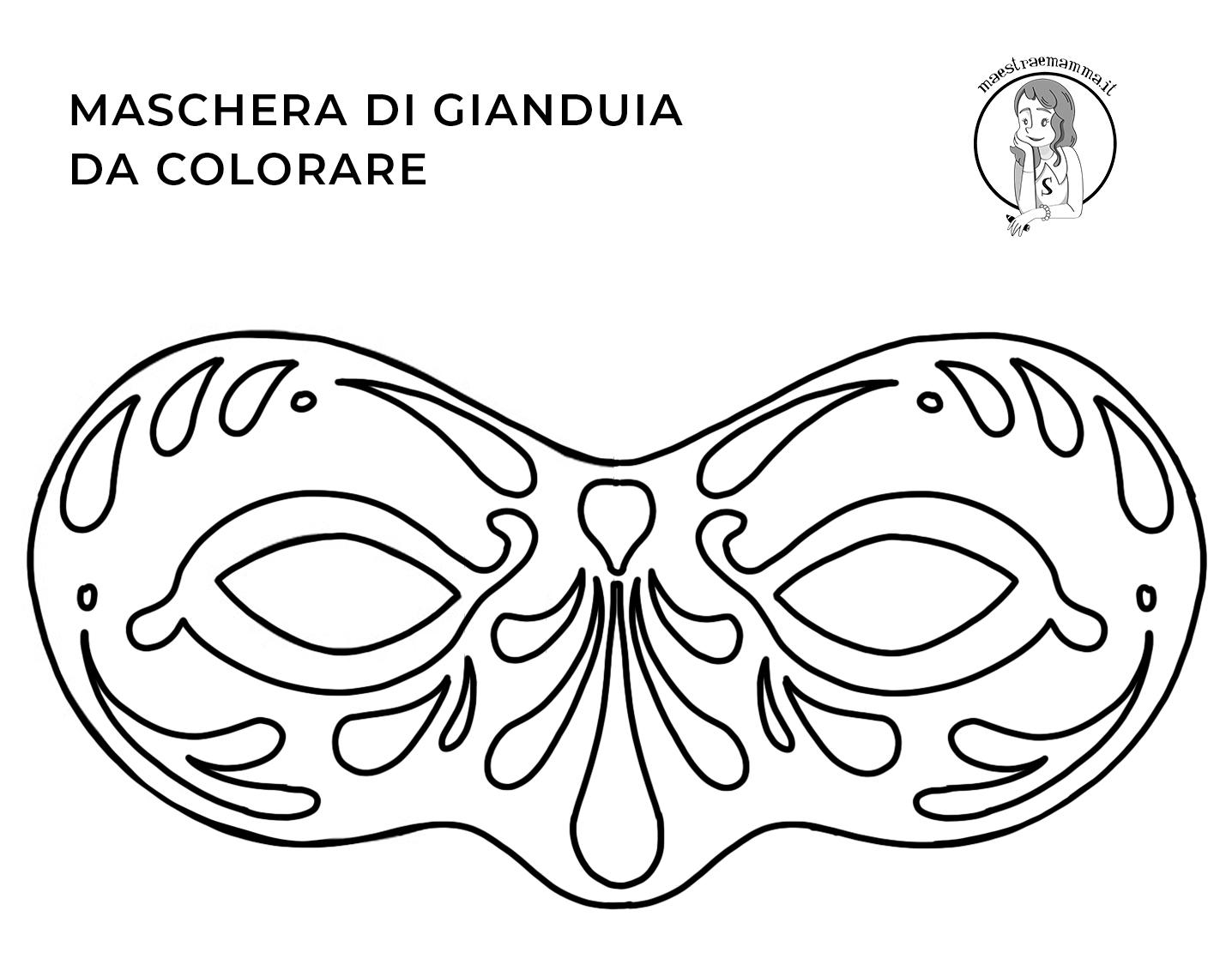 gianduia-Maschere di Carnevale da colorare e ritagliare