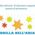 """""""Brilla nell'aria"""" di Giacomo Leopardi - poesia di primavera"""