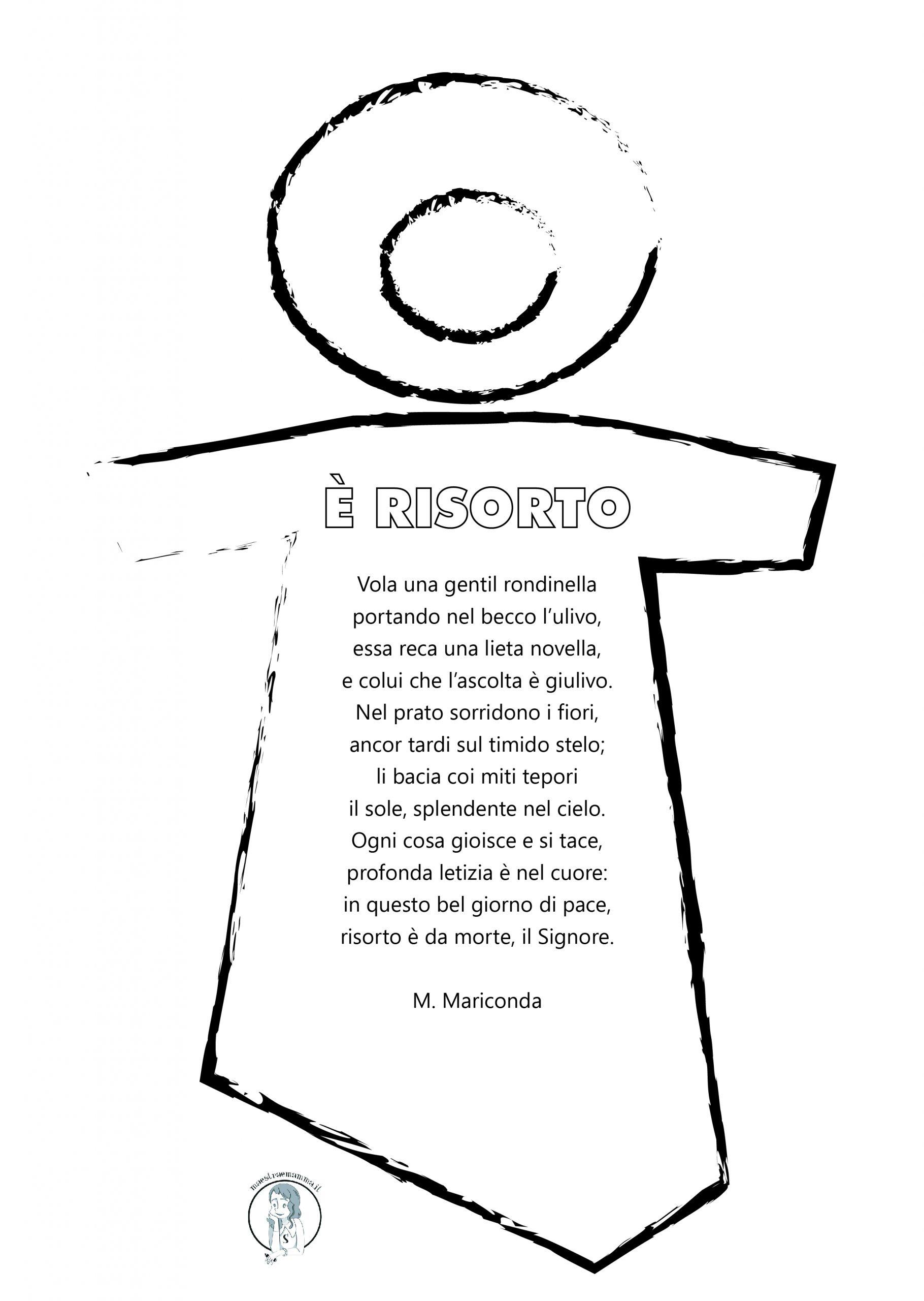 Pasqua-Poesia - E' risorto di Mariconda