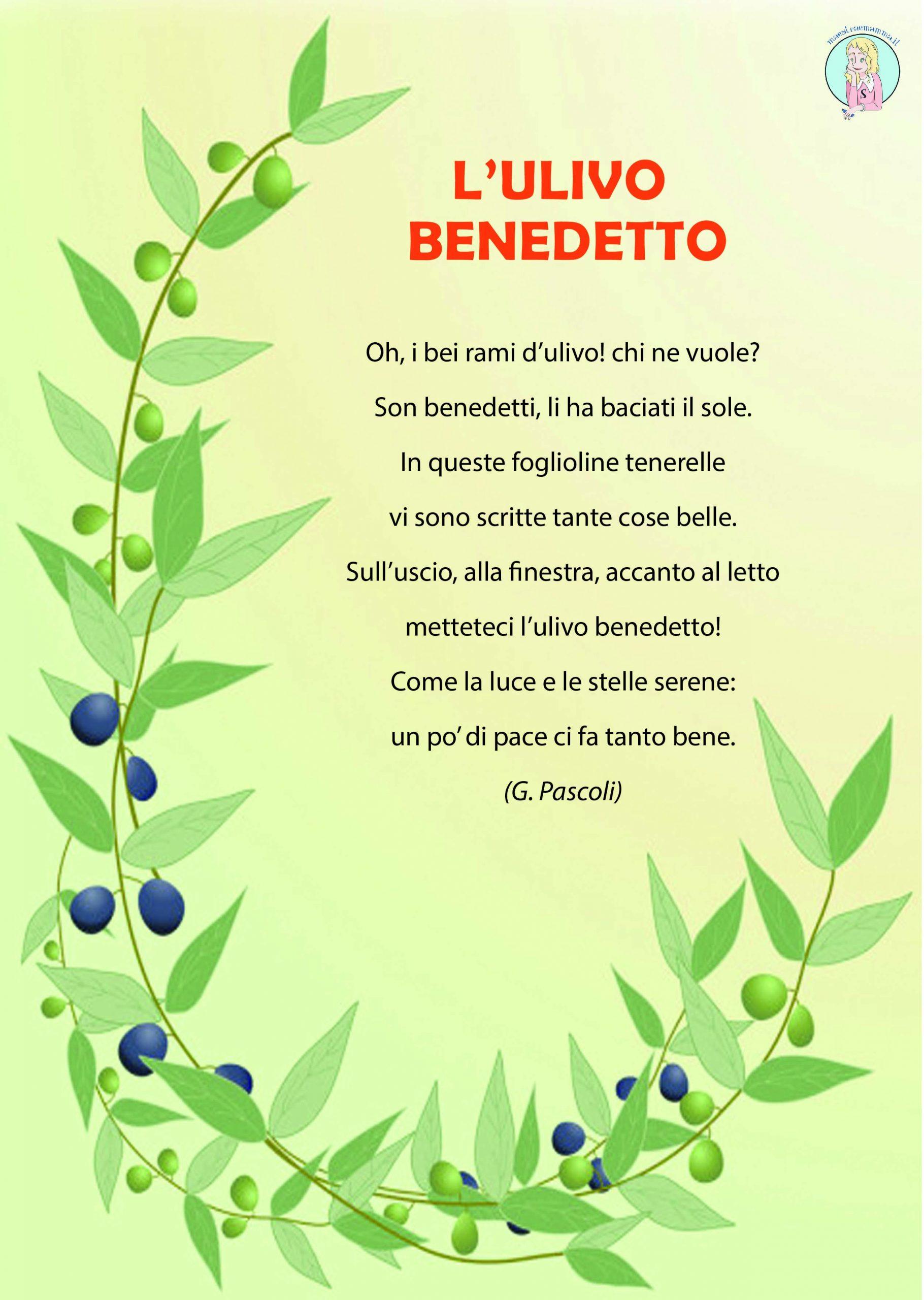 poesia di pasqua l-ulivo benedetto di Giovanni Pascoli