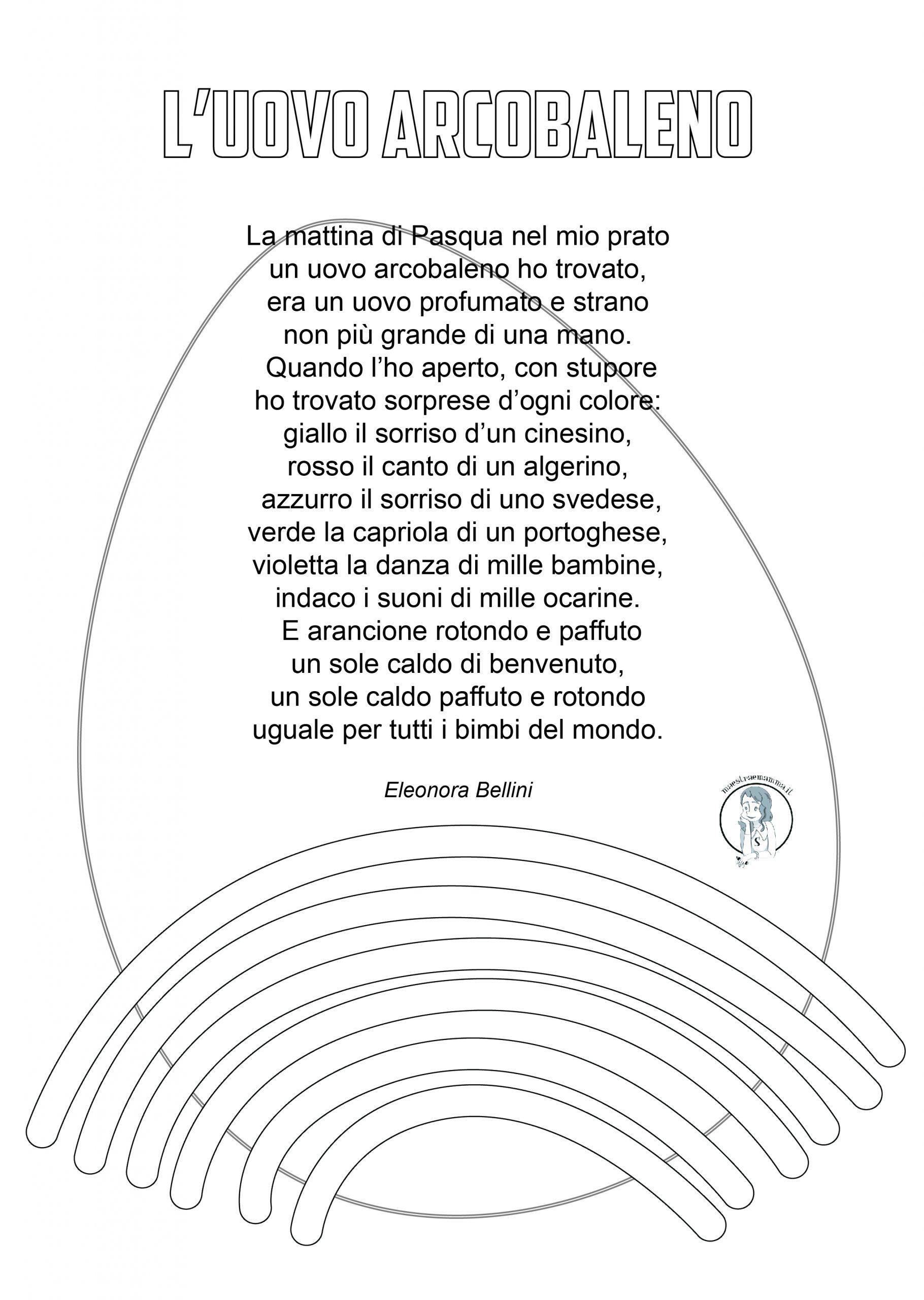 L'uovo arcobaleno - poesia di Pasqua per bambini