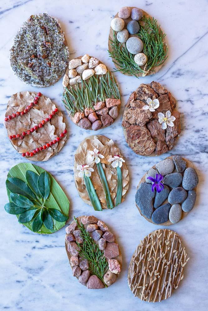 pasqua lavoretto uova naturali materiale riciclato IDEE ORIGINALI DA SVOLGERE ANCHE CON I BAMBINI PICCOLI